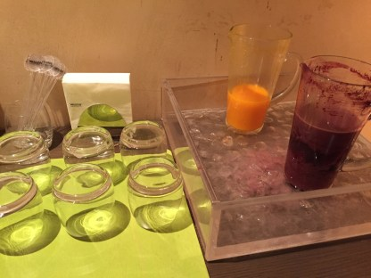 Westin Milan Spa juice