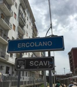 Train from Naples to Herculaneum Ercolano Scavi
