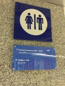 Naples Train Station Bathroom Cost