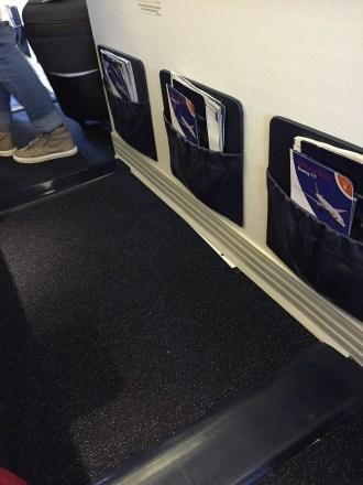 World Traveller Plus Bulkhead row British Airways