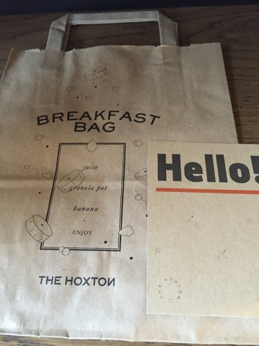 Free Breakfast Bag Hoxton Holborn London