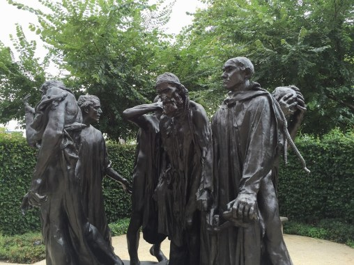 "Rodin Museum Garden Sculpture ""The Bughers of Calais"""