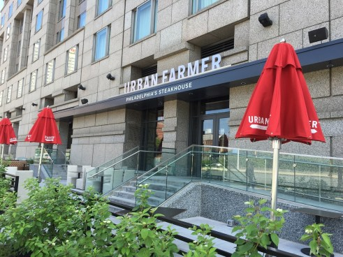 Urban Farmer Philadelphia at the Logan Hotel patio on the parkway