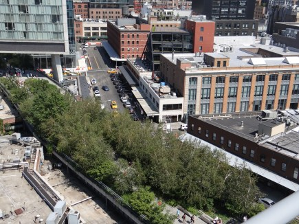 The New York City High Line from above
