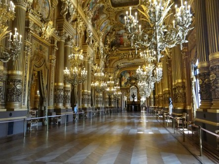 Paris Opera tour Ballroom great First Trip to Paris & London