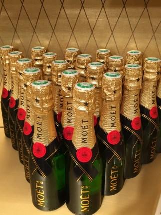 Mini bottles Moet & Chandon champagne