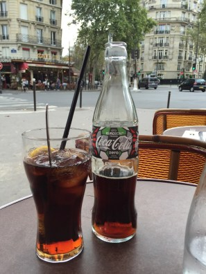 Diet Coke in Paris at Cafe