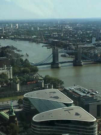 Tower Bridge view from Sky Garden London