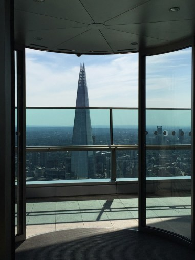 Sky Garden London view of The Shard London