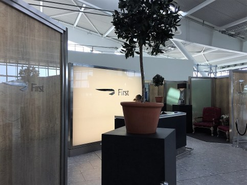 BA First Class Check In Heathrow