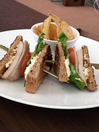 BA Concorde Room club sandwich