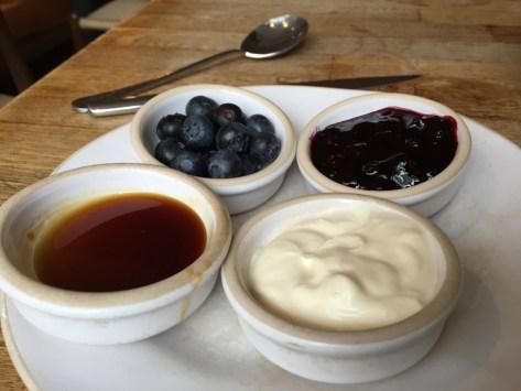 Gail's Bakery Pancake toppings