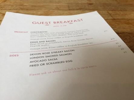 My Bloomsbury Hotel Breakfast at Gail's Bakery