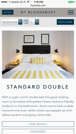 My Bloomsbury Standard Double Room