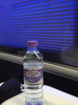 British Airways First Class Bottled Water
