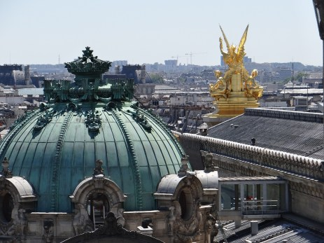 View of the Paris Opera from Galleries Lafayette rooftop