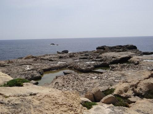 Gozo salt pans sea view