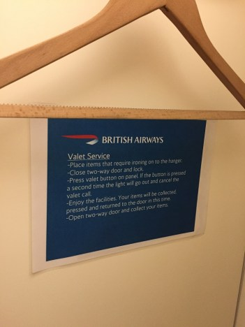 BA Valet Shower at Heathrow