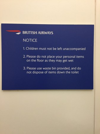 BA shower at heathrow