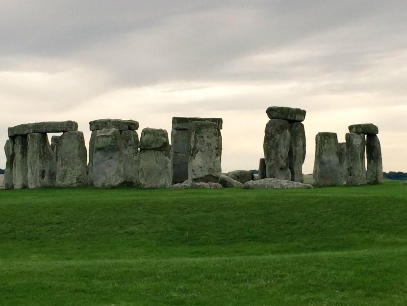 Stonehenge cloudy skies photo