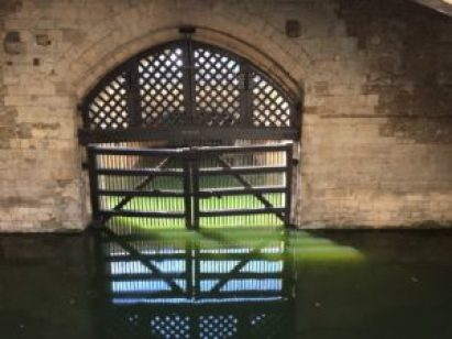 Tower of London moat entrance