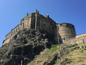 Edinburgh Castle hill Scotland