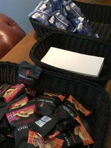 Virgin First Class Lounge Edinburgh snacks