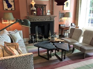 Drawing Room and Fireplace at the Dorset Square Hotel Marylebone