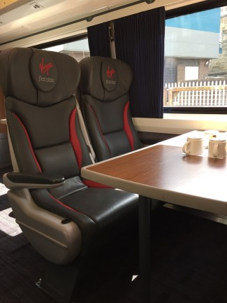 Virgin East Coast First Class seating Edinburgh to London