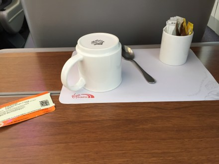 Virgin East Coast FIrst Class Tea