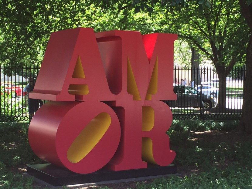 AMOR sculpture D.C. National Gallery Sculpture Garden Art Weekend in D.C.