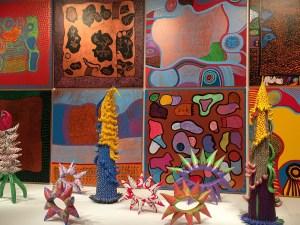 Kusama sculptures paintings Infinity Mirrors exhibit seattle
