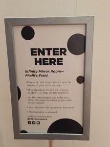 Infinity Mirrors Exhibit Rules