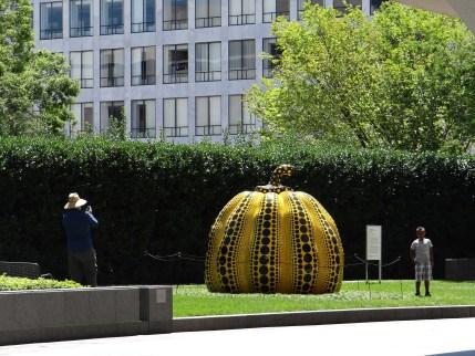 Kusama Pumpkin at the Hirshhorn in D.C.
