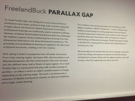 Parallax Gap at The Renwick Gallery