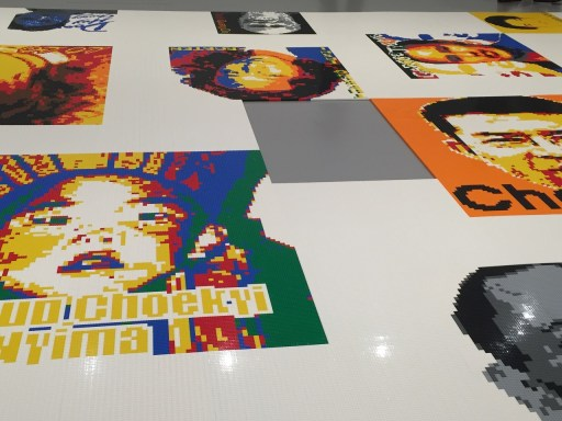 Trace at Hirshhorn Portraits in Lego by Ai Weiwei