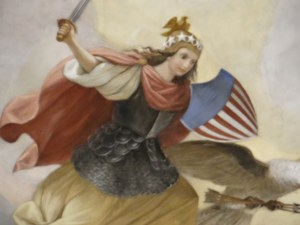 US Capitol Rotunda Painting Warrior