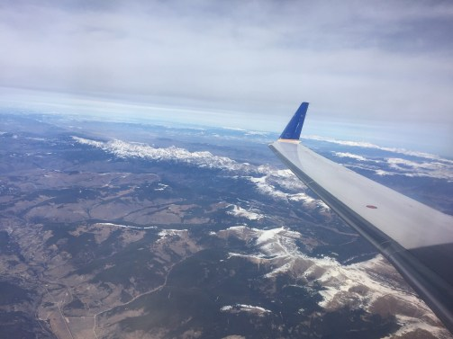 United Views flying from Denver to St George Utah Desert calling
