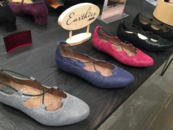 Colorful flats by Earth Shoes in Philly