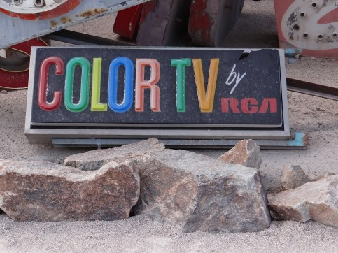 Neon Museum Color TV sign
