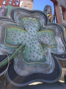 Neon Museum Sign Four Leaf Clover