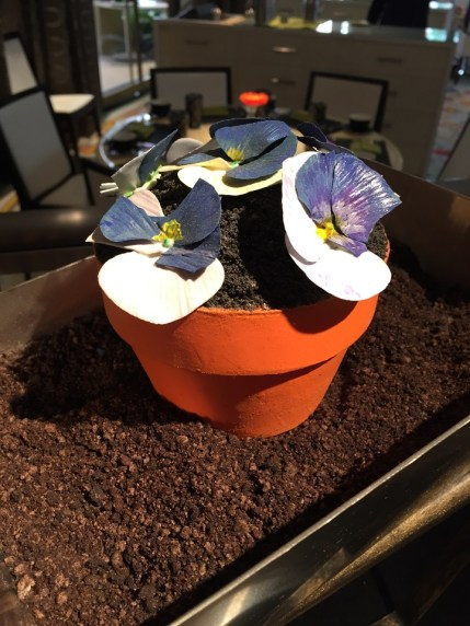 Amazing Chocolate Cake Edible Flower Pot at The Wynn Hotel
