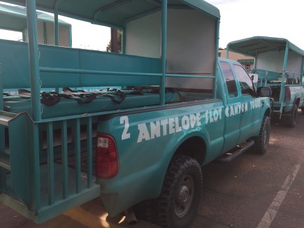 Upper Antelope Canyon tour truck