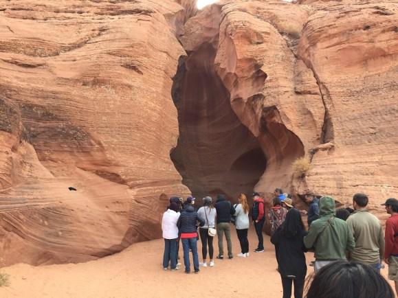 Upper Antelope Canyon entrance tour groups