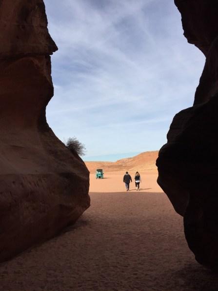 Upper Antelope Canyon view outside