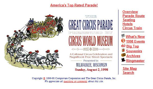 The Great Circus Parade Home Page