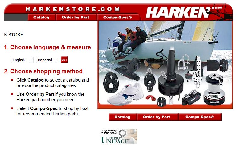 Harken Yacht Equipment Online Catalog