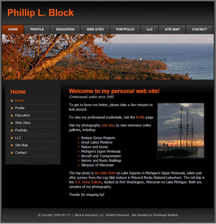Phil Block's Personal Web Site, 2009-2017