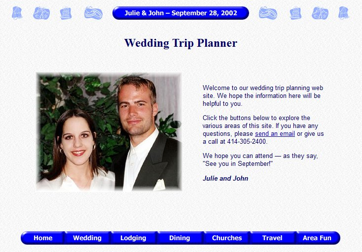 Julie and John's Wedding Trip Planner