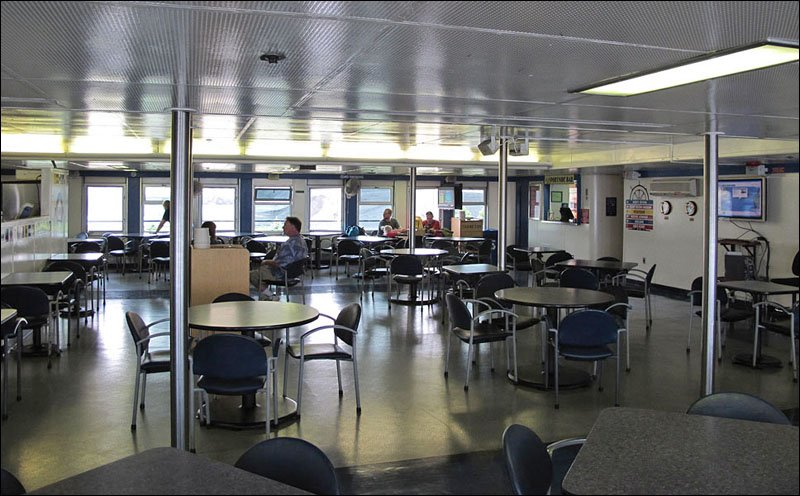 Badger Galley dining Lounge on main deck